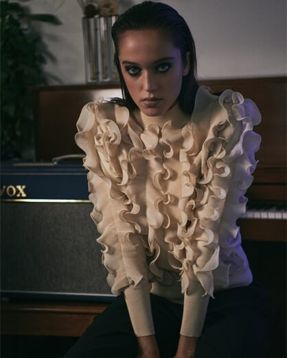 Discover Designer Anne Fontaine's selection of luxury knitwear