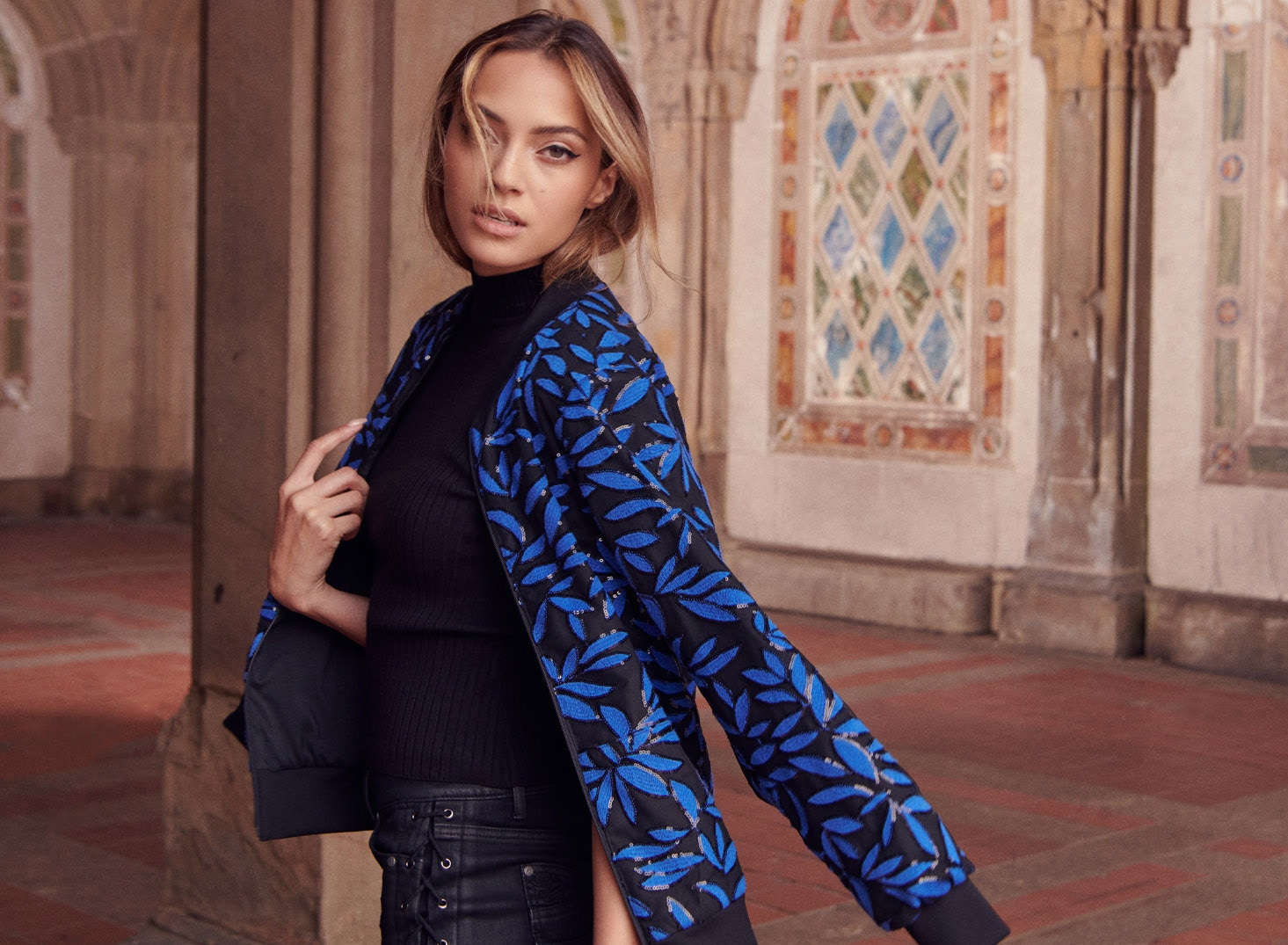 Explore the curated edit featuring silhouettes in this season's trending color - ultra blue