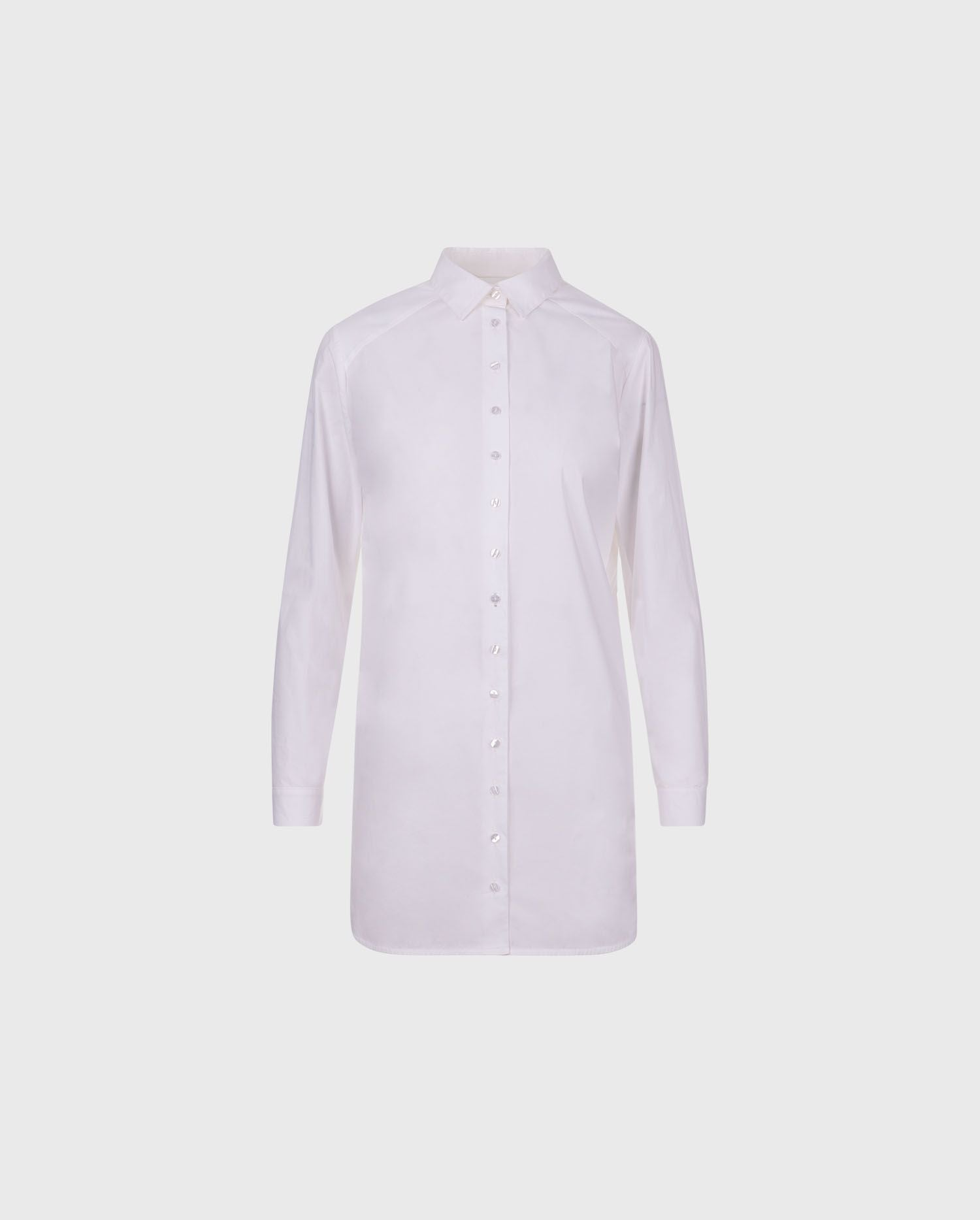 BOYFRIEND: Tunic length shirt with embroidered details | ANNE FONTAINE