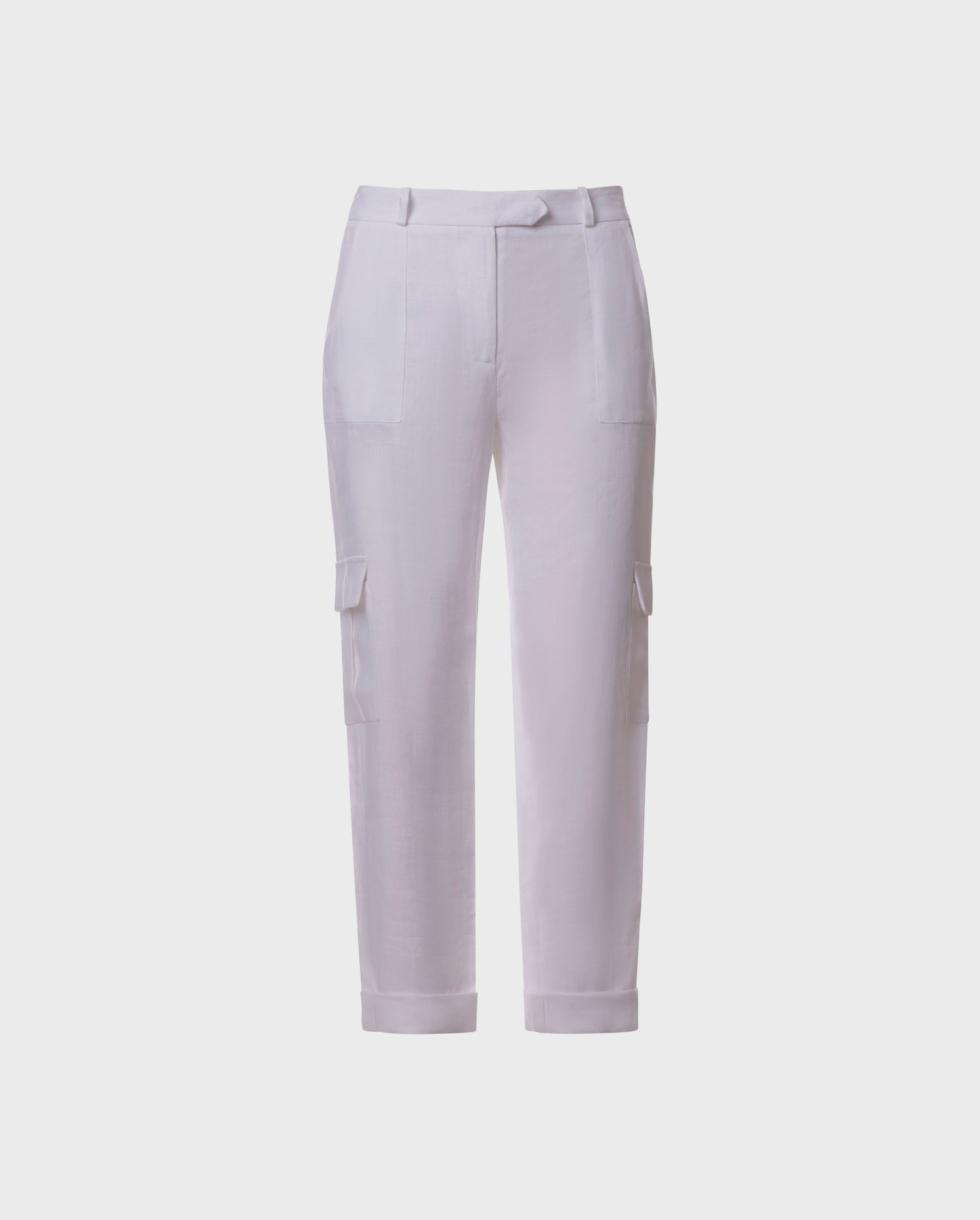 Comfort and chic come together with the new white white linen CASTAWAY pants from designer Anne Fontaine