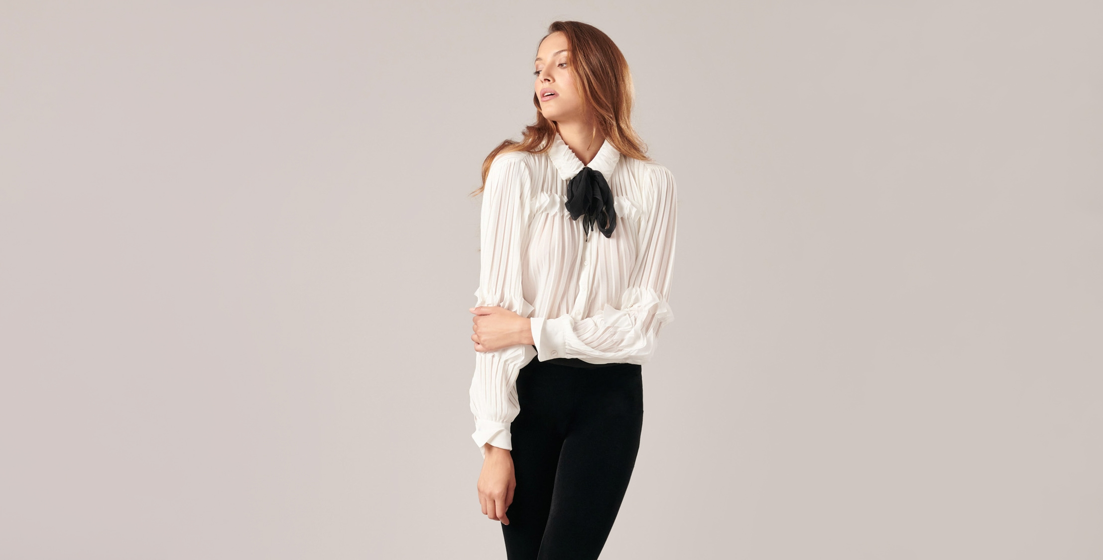 The SAMANTHA-H18 white shirt will make sure you arrive in style