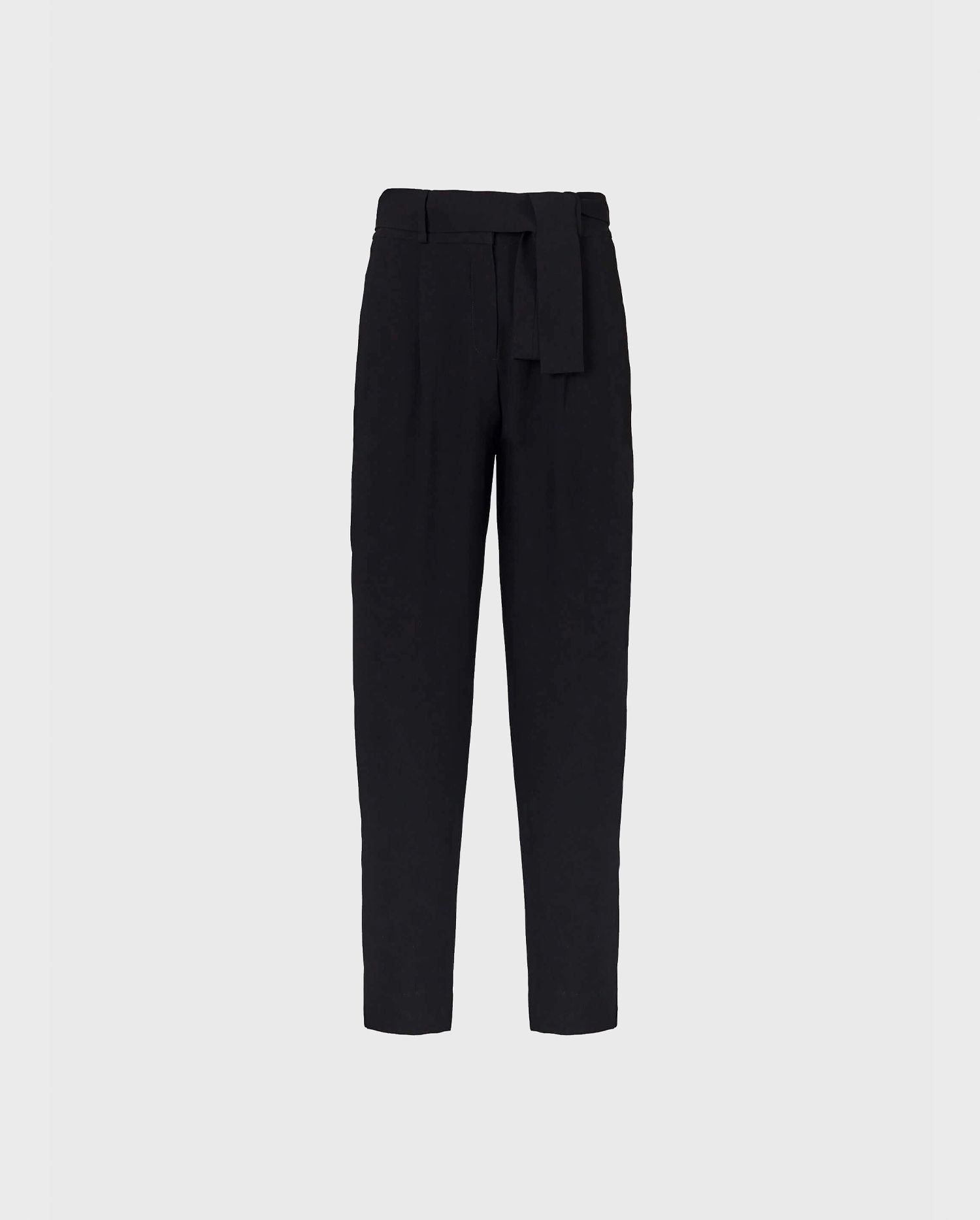 The black pleated ankle LESTER pants will become a staple to your modern wardrobe