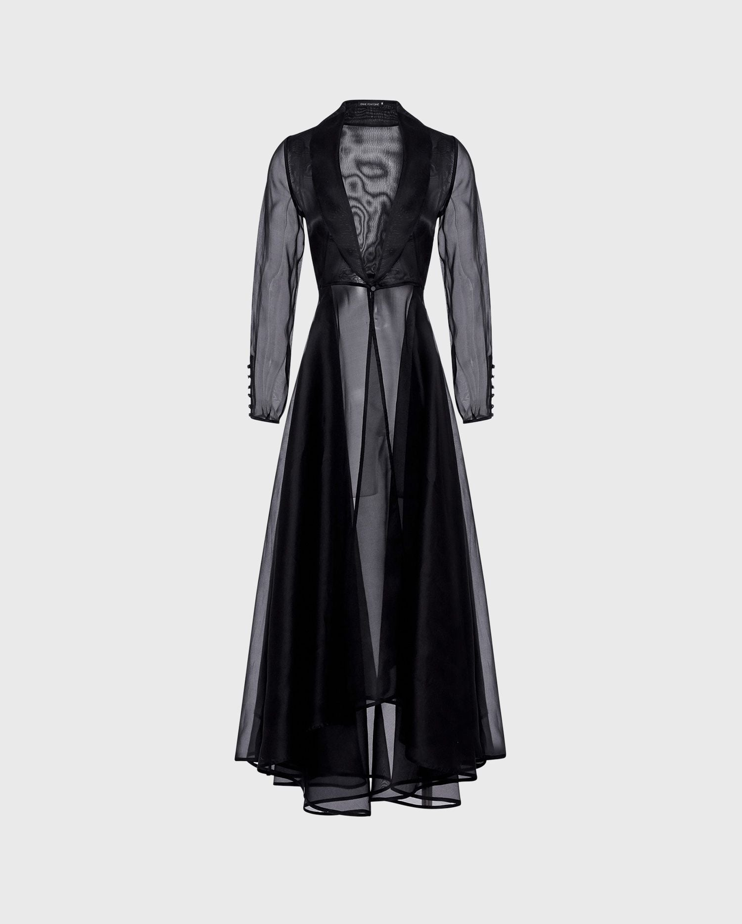 ANNE FONTAINE: LIDORANE Dress: Evening jacket cut from sheer silk organza