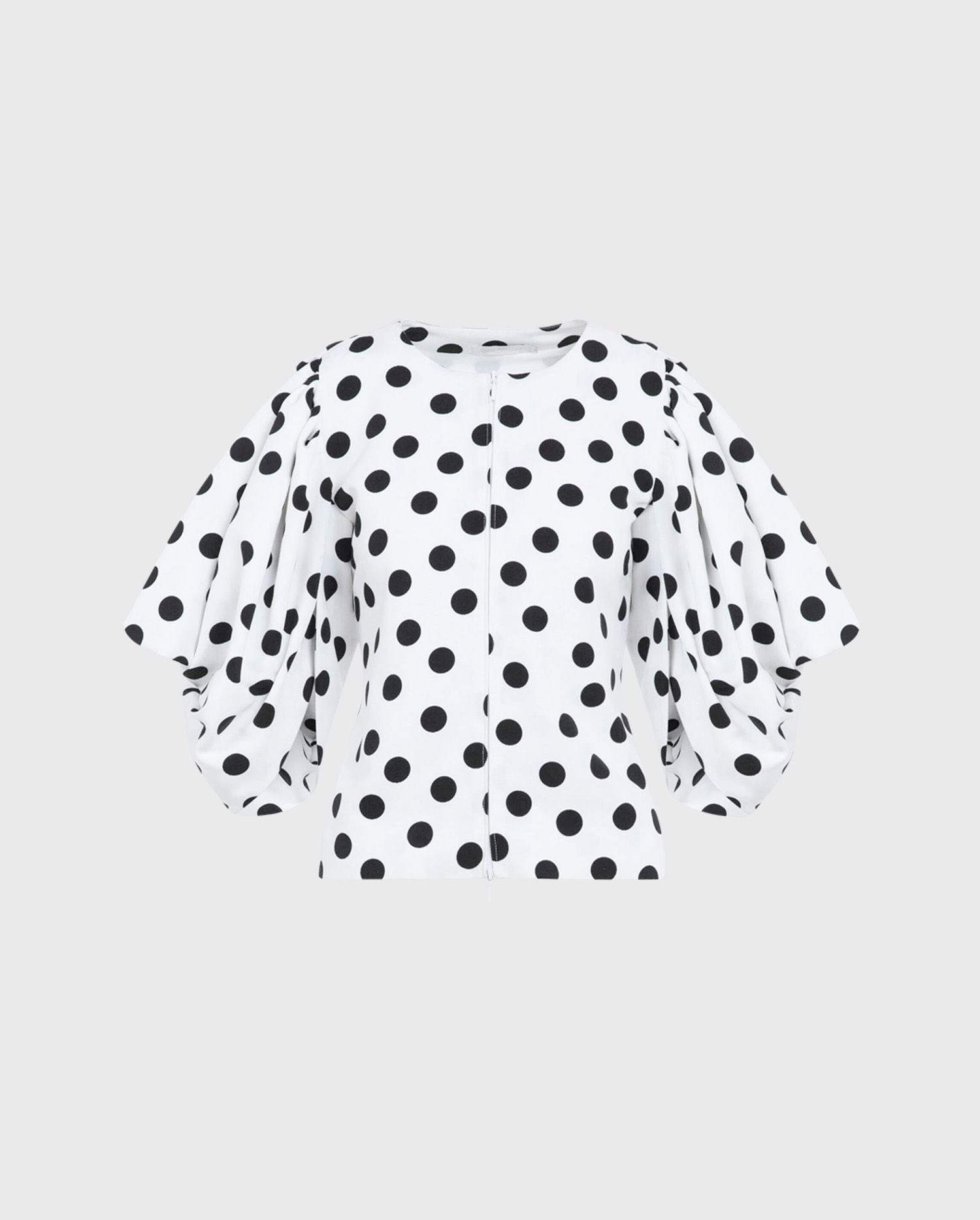 Take a walk into the spotlight with the POLKA - WHITE statement jacket - perfect for your next event