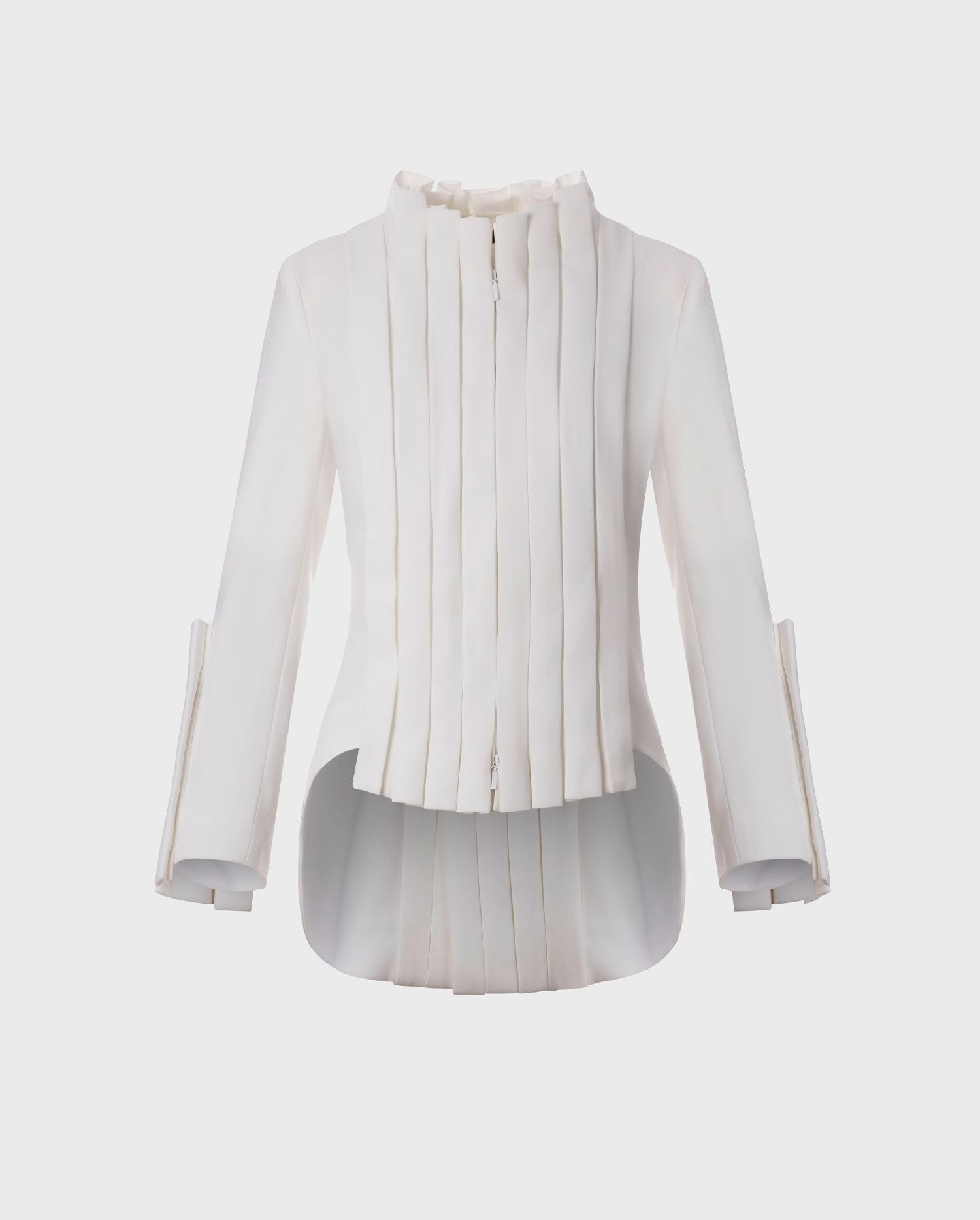 The SECRET-WHITE jacket delivers looks of pure glamour