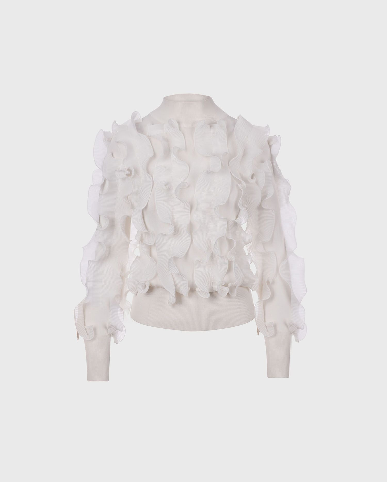 The crisp white SIDALINE sweater is the perfect addition to your Fall wardrobe