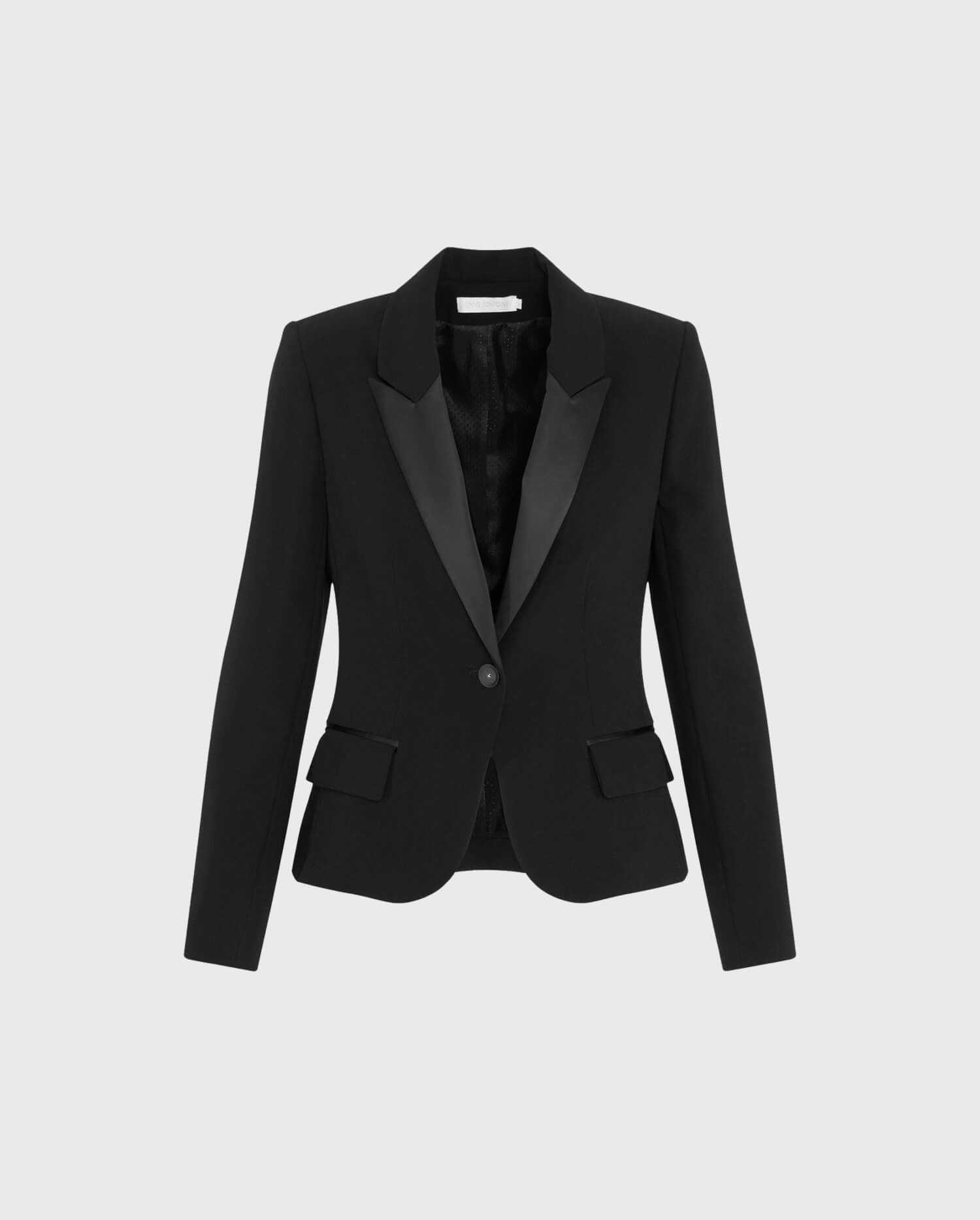 The SMART Black Tuxedo Jacket Is The Perfect Masculine - Feminine Style Jacket To Create A Parian Chic Style