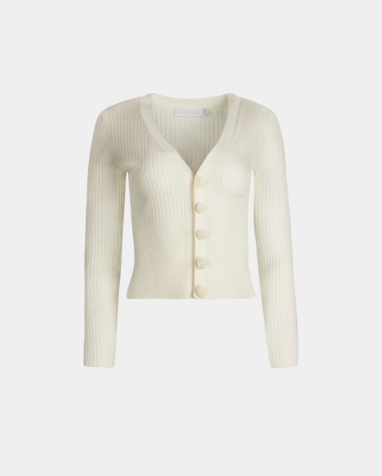 The SOLFEGE moon white cardigan is the perfect layer to add to your Fall wardrobe